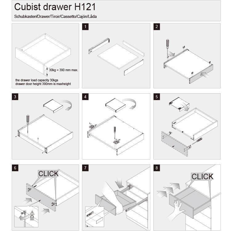 metal drawer box kits