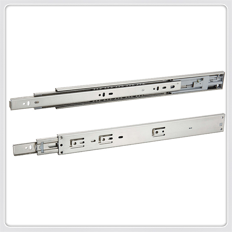three section ball drawer slide